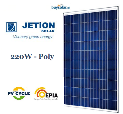 Jetion Solar 220W Poly-Crystalline