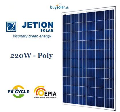 Jetion Solar 220W Poly-Crystalline