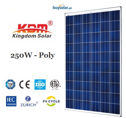 Kingdom Solar 250Wp Poly-Crystalline