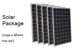 Solar Package for 750W load with 2 hour backup