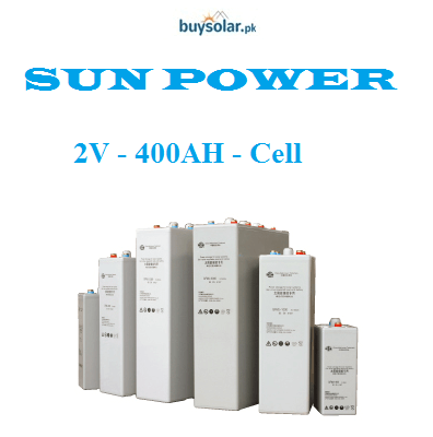 SunPower 2V 400AH Cell