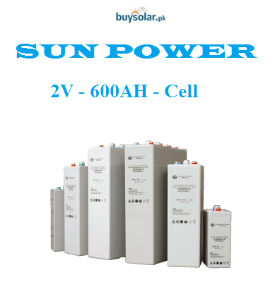 SunPower 2V 600AH Cell