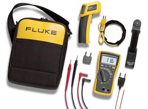 Fluke 116/62 HVAC Multimeter and IR Thermometer Combo Kit