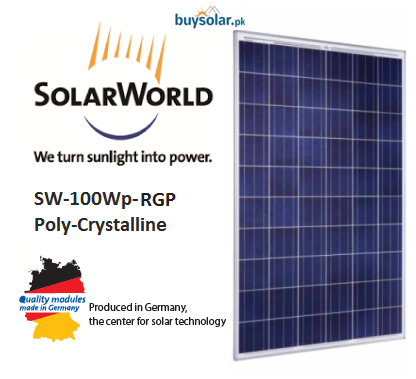 SolarWorld 100Wp-RGP Poly-Crystalline