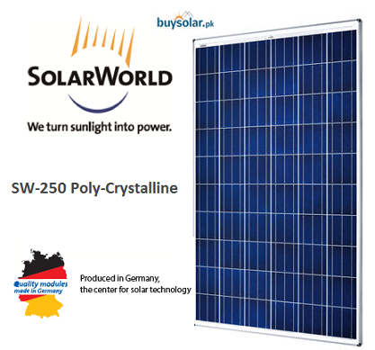 SolarWorld 250Wp Poly-Crystalline