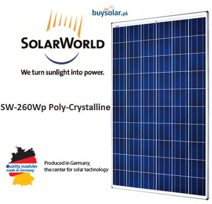 Solarworld 260Wp Poly-Crystalline